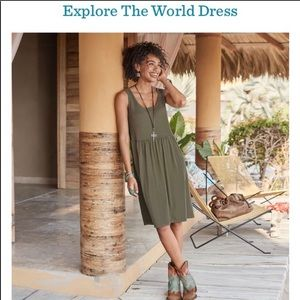 Sundance NWOT Olive Explore The World Dress M